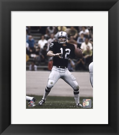 Framed Ken Stabler - Passing Action Print