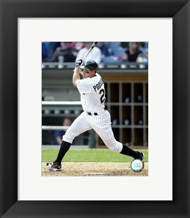 Framed 2005 - Scott Podsednik Batting Action Print
