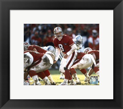Framed Steve Young - Calling Play Print