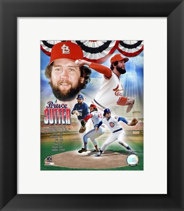 Framed Bruce Sutter - legends Composite Print