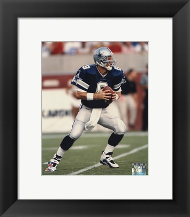 Framed Troy Aikman - Action Print