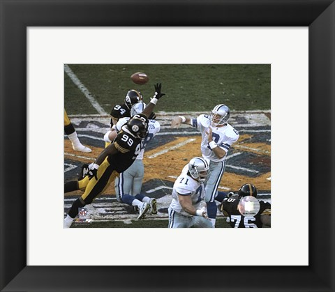 Framed Troy Aikman - Horizontal Action Print