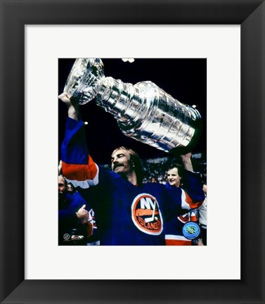 Framed Bobby Nystrom - With Stanley Cup Print