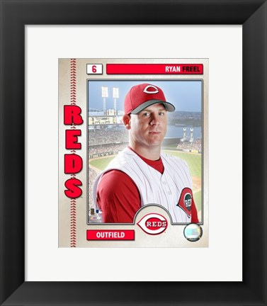 Framed Ryan Freel - 2006 Studio Plus Print