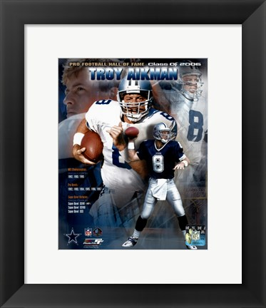 Framed Troy Aikman - HOF Legends #2 Print
