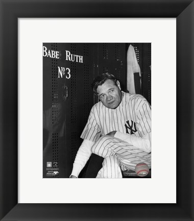 Framed Babe Ruth - Farewell Game / Locker Room Print