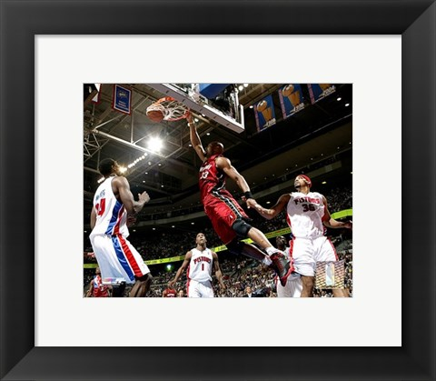 Framed Alonzo Mourning - 2006 Playoff  Action Print