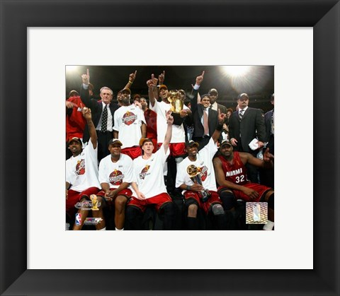 Framed 2006 - Heat NBA Champions Team Celebration (#35) Print