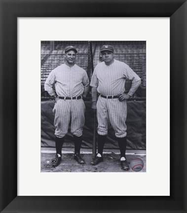 Framed Lou Gehrig / Babe Ruth - Full Body / Pinstripes Print