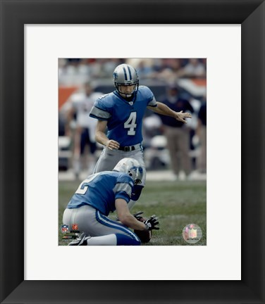 Framed Jason Hanson - '06 / '07 Action Print