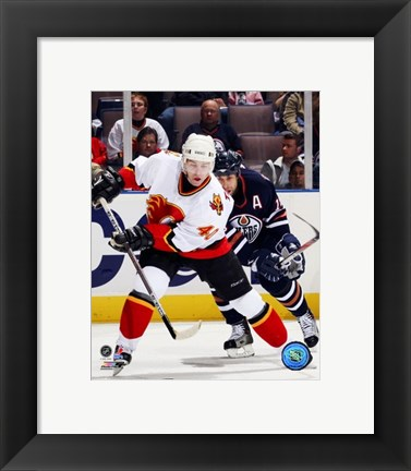 Framed Alex Tanguay - '06 / '07 Away Action Print