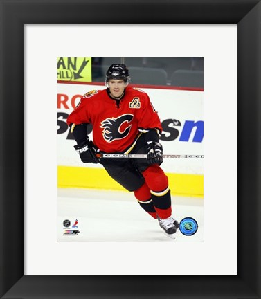 Framed Stephane Yelle - '06 / '07 Home Action Print