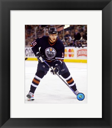 Framed Shawn Horcoff - '06 / '07 Home Action Print