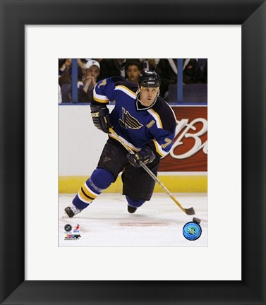 Framed Keith Tkachuk - '06 / '07 Home Action Print