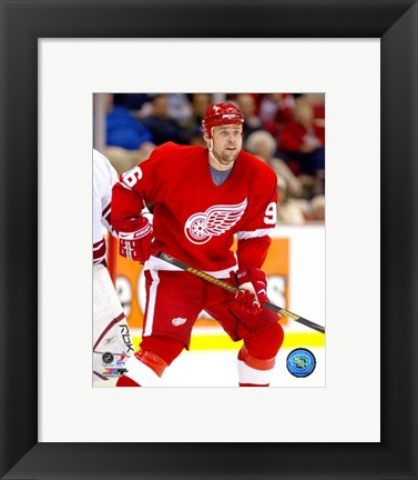Framed Tomas Holmstrom - '06 / '07 Home Action Print