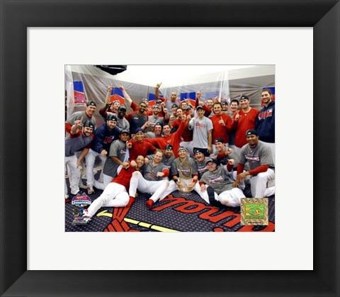 Framed 2006 - World Series Celebrates / Locker Room (#32) Print