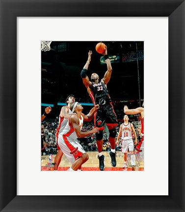 Framed Alonzo Mourning - '06 / '07 Action Print