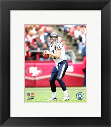 Framed Philip Rivers - '06 / '07 Action Print