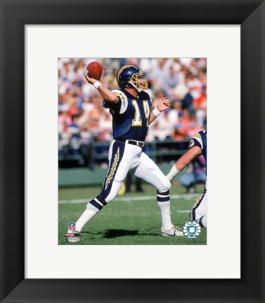 Framed Dan Fouts - 1987 Action Print