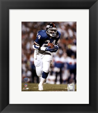 Framed Ottis Anderson - Super Bowl XXV / Action Print