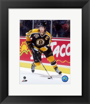 Framed Ray Bourque - 1998 Action On Ice Print