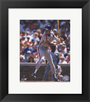 Framed Darryl Strawberry -  1989 Batting Action Print