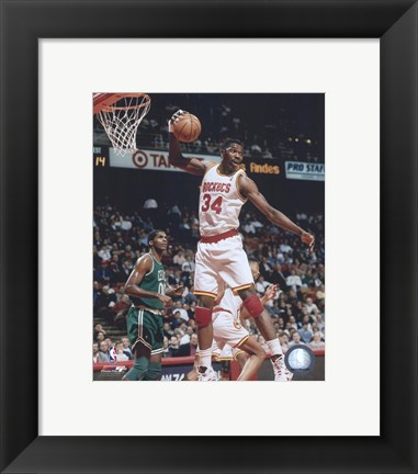 Framed Hakeem Olajuwon - 1994 Action Print