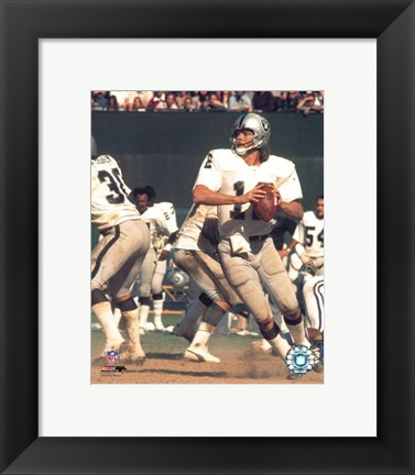 Framed Ken Stabler - Action Print