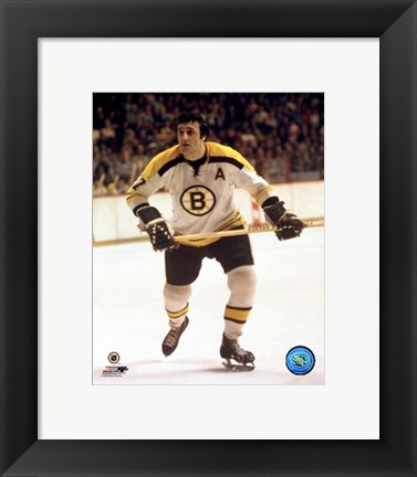 Framed Phil Esposito - (Bruins) Action Print