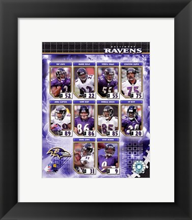 Framed 2006 - Ravens Team Composite Print
