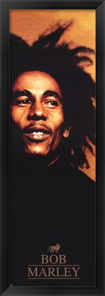 Framed Bob Marley Red -Slim Print Print