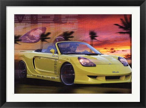 Framed Toyota Mrs Print