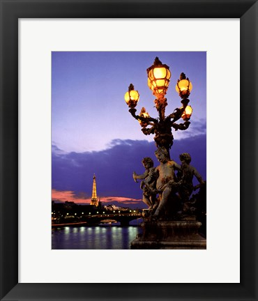 Framed Paris Bridge Print
