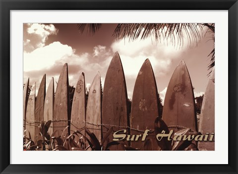Framed Surf Hawaii Print