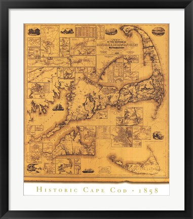 Framed Historic Cape Cod Print