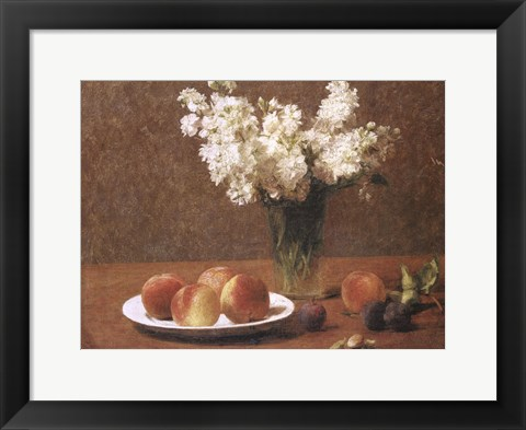 Framed Still Life With Peaches Print