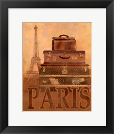 Framed Travel - Paris Print