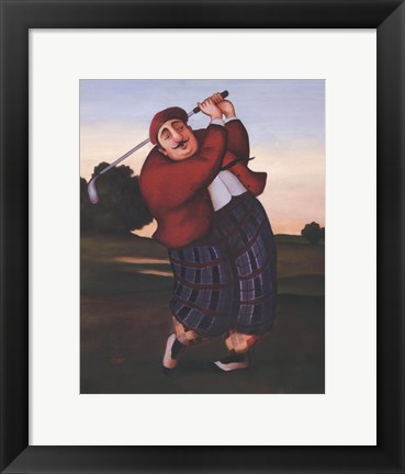 Framed Golf Fore Print