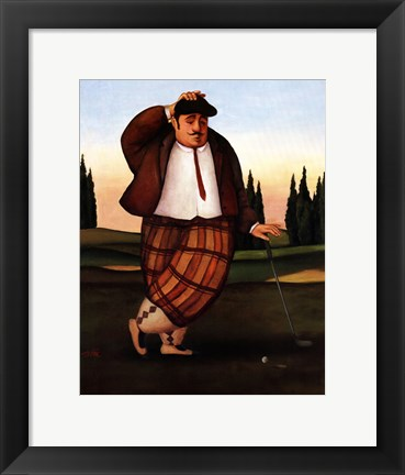 Framed Golf Putt Print