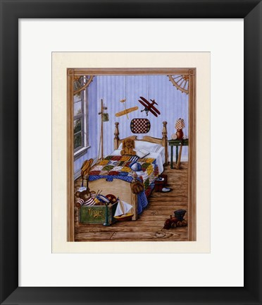 Framed Boy's Bedroom Print