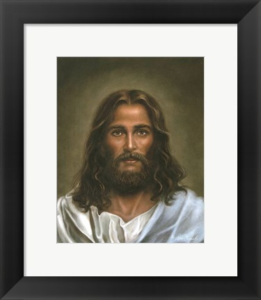 Framed Head Of Christ Print