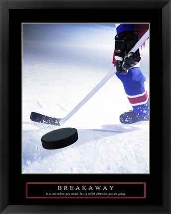 Framed Breakaway-Slap Shot Print