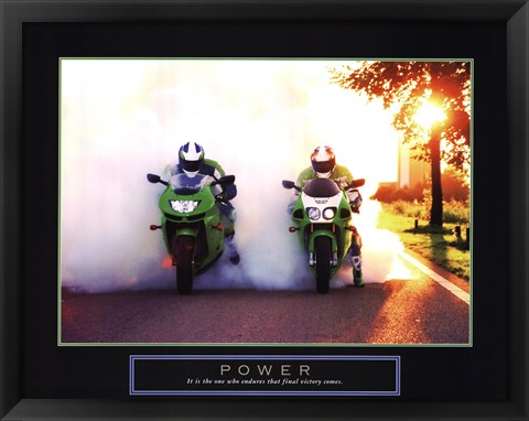 Framed Power - Motorcycles Print