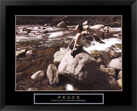 Framed Peace - Yoga Print