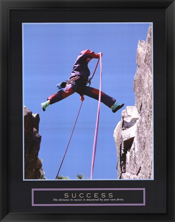 Framed Success - Rock Jumper Print
