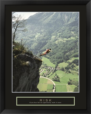 Framed Risk - Cliff Jumper Print