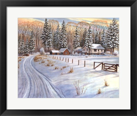 Framed Winter Scene IV Print