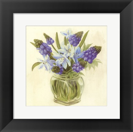 Framed Purple Flowers Print