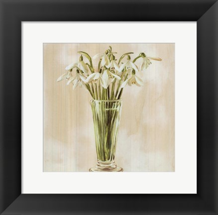 Framed White Flowers Print