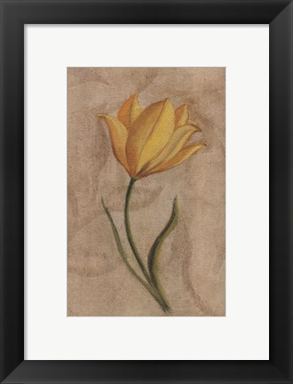 Framed Yellow Flower Print